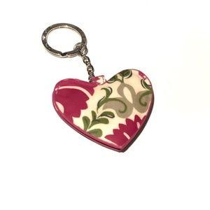 Very Bradley heart photo keychain